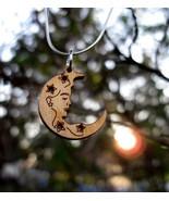 Elegant Dryad Tree Nymph Wooden Moon Amulet Hau... - $49.99