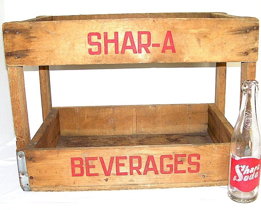 Shara Soda Wood Crate 1940-50 EUC Authentic Vintage Country Decor