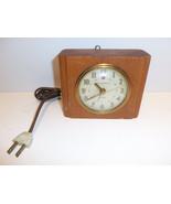 Vintage GE General Electric Wood Block Gay Hour... - $39.15