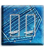 DENIM BLUE VINTAGE JEANS POCKET STITCHES DOUBLE... - $11.99