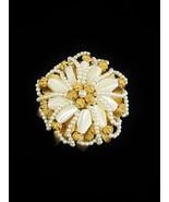 Vintage HOBE Faux Pearl Beaded Brooch (f13F) - $55.10