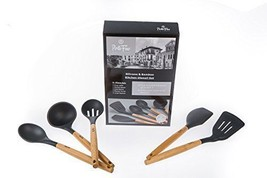 5 Pc Bamboo Silicone Kitchen Utensil Set Safe G... - $52.46