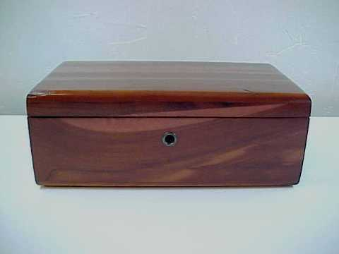 Vintage Lane Cedar Wood Jewelry Chest or Trinket Box