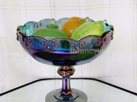 Vintage Indiana Glass Garland-Blue Carnival Com... - $18.32