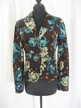 Debbie Shuchat Micro Cord Floral Jacket Size 6 - $36.99