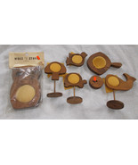 Lot of 6 Wooden Shaped Craft Frames Owl, Turtle... - $20.79