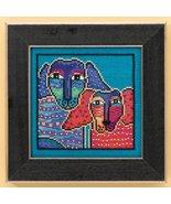 Ol' Blue and Red dog aida cross stitch kit Laur... - $16.20