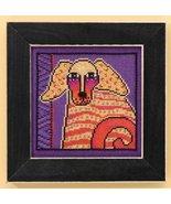 Goldie dog linen cross stitch kit Laurel Burch ... - $16.20
