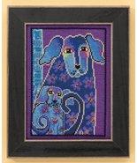 Bloomingtails dog linen cross stitch kit Laurel... - $16.20
