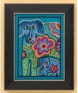 Petunia & Rose dog linen cross stitch kit Laure... - $16.20
