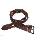 NEW Lucky Brand Mens Leather Belt Braided Squar... - $39.11
