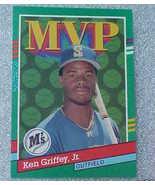 1990 Leaf MVP Griffey JR Mariner OF Baseball Ca... - $1.87