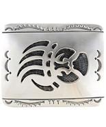 Longmire Style Sterling Silver Belt Buckle Bear... - $365.31