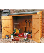 Outdoor Backyard Wood Bicycle Storage Wooden Ti... - $999.95