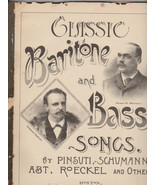Classic Baritone and Bass Songs Oliver Ditson C... - $24.75