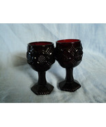 Two Avon Ruby Red Wine Glass Goblets Presidents... - $14.25