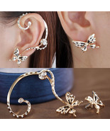 Butterfly Cuff Earring With Butterfly Stud  - $15.99