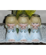 Hallmark 3 Angels Praying Figurine Blonde Hair ... - $14.97