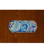 Vera Bradley Capri Blue Hard Eyeglass Case Sung... - $10.97