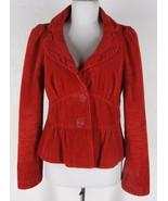 ELEVENSES Anthropologie Cotton Corduroy Jacket ... - $32.99