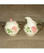 Desert Rose Sugar Dish and Creamer Set by Franc... - $32.95