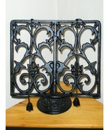 Cast Iron Cookbook Holder Tablet Recipe Holder ... - $27.97