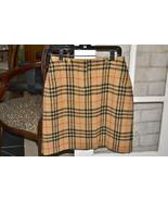 Preowned BURBERRY Golf Skirt Wool Size 8 Nova H... - $139.06