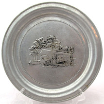 WILTON PEWTER PLATE COVERED BRIDGE IN CENTER 11... - $13.29