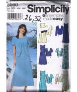Simplicity 5660 - Women's & Petite Dress with J... - $5.00