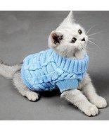 Turtleneck Pet Cats Sweater Aran Pullover Knitt... - $14.50