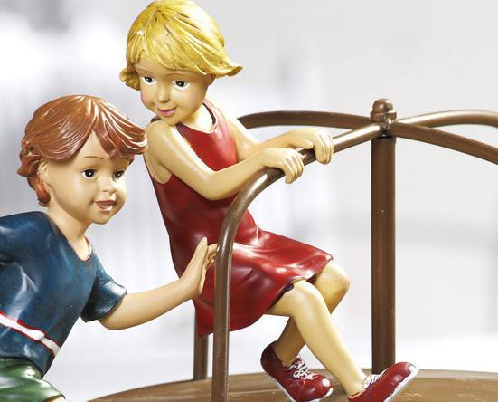 Image 2 of 4pc. Merry-go-round Kids Garden Figurines