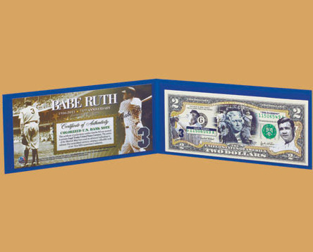 Image 0 of Babe Ruth American Legends $2 Bill  Uncirculated