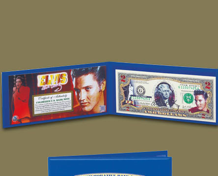 Elvis American Legends $2 Bill Uncirculated