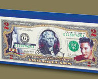 Image 2 of Elvis American Legends $2 Bill Uncirculated