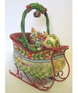 Jim Shore Santa's Sleigh and Ornaments Named Sl... - $54.44