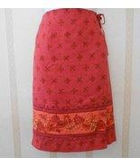 Tommy Bahama Silk Wrap Around Skirt Dark Rose sz 8 - $16.95