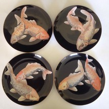 Fitz & Floyd Koi Pond Luncheon Collector Plates... - $98.99