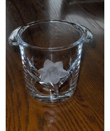 Crystal Ice Bucket with Flower Leafs and Handle... - $19.99
