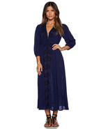 Sz M NEW Free People Embroidered Fable Maxi Dre... - $158.00