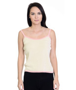 Size S Ann Taylor Beige With Pale Pink Trim 100... - $23.50