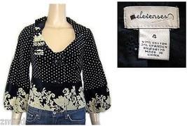 Elevenses Anthropologie Velveteen Black & Beige... - $24.99