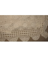 Antique Hand crocheted Coverlet Bedspread  60 x 86 - $199.99