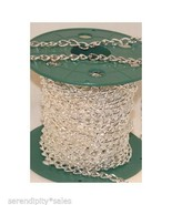 50 Ft Chunky Cable CHAIN 11x6mm Silver Plated ~... - $40.14