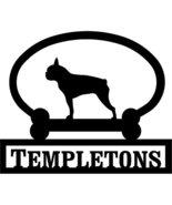 Boston Terrier Custom House Sign One Line - $98.99