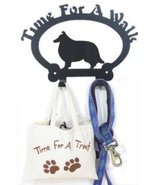 Shetland Sheepdog Time For A Walk Leash Hook - $24.74