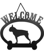 Welcome Sign - Boston Terrier - $24.74