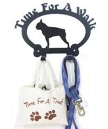 Dog Leash Hook - Boston Terrier (Time for a Walk) - $24.74
