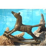 Vintage Brass Rocking Horse Paperweight Pony Sm... - $14.95