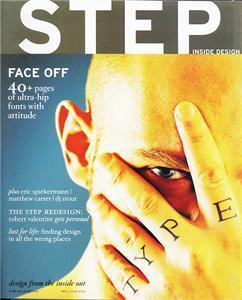 STEP Inside Design Magazine May/June 2003 Hip Fonts