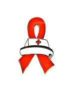 Tuberculosis TB Lapel Pin Nurse Cap Red Awarene... - $10.97